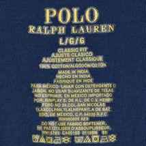 Polo Ralph Lauren Men's Navy Blue Classic Fit Crew Neck Cotton T-Shirt Size L image 4