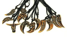 Bone Necklace Tooth Set of 12 Resin - $22.51