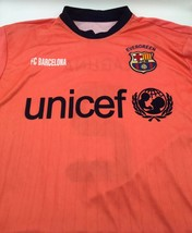 FC Barcelona Barca FCB Away Jersey Shirt Camiseta Unicef Nike L Neon Lag... - $14.24
