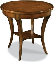 "New Side Table  Round 28"" Brown Distressed Cherry  Curved - $1,319.00"