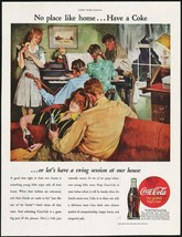 Vintage magazine ad COCA COLA No Place Like Home from 1945 Leland Gustav... - $12.99