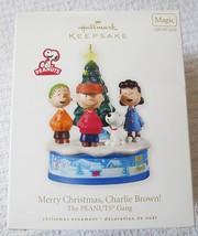 Hallmark Peanuts Gang Merry Christmas Charlie Brown w/Light&Sound 2010 O... - $30.95