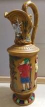 Vintage Mid Century Ceramic Plaster Molded Pitcher Vase Spanish Conquist... - $19.99