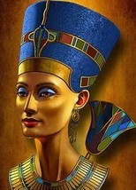 QUEEN NEFERTITI   COLOURED CROSS STITCH KIT - $34.72