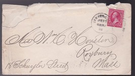 DENVER COLORADO JULY 3 1896 WITH LETTER MAILED TO BOSTON MASS GEORGE FIT... - $5.88