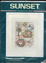 Victorian Mementos Sunset Stamped Cross Stitch Kit 13092 11 x 14 Sealed Zabroski - $18.37