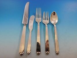 Oak Leaf Pitt Petri Old Newbury Crafters Sterling Silver Flatware Set 73 Pieces  - $5,685.75