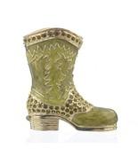 Green Boot trinket box hand made by Keren Kopal with Austrian crystals F... - $59.40