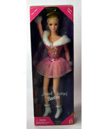 Mattel BARBIE Girls Doll NIB Jewel Skating Short Pink Dress Golden Accents  - $13.29