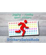 planner stickers    jogger - running    sport    rainbow colored sticker... - $3.00+