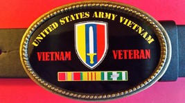 Vietnam Veteran The United States Army Epoxy Belt Buckle - New - $16.78