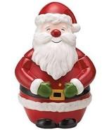 Martha Stewart Collection Holiday Vintage Paper Figural Santa Cookie Jar... - $49.99