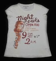 AEROPOSTALE  WOMEN'S SIZE XL T-SHIRT NIGHT OWLS OPEN MIC NIGHT TOP SHIRT - $8.90