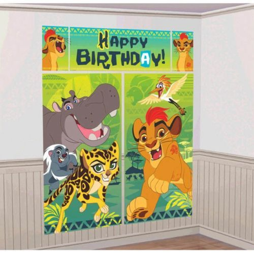 Lion Guard Scene Setter Wall Decorating Kit Birthday Party
