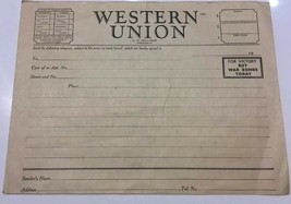 "Unused WWII Blank Western Union Telegram With ""For Victory Buy War Bonds"" - $4.99"