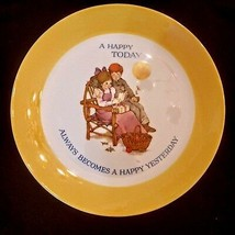 Keepsake Dear Hearts Gibson Plate 1973 Leslie A Happy Today Cookie Gift Tray - $7.90