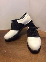 Mens Size 9M Rockport Golf Shoes Black/White Waterproof - $20.00