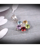 Colorful Jewelry in Sterling Silver (925), Christmas Gift, Crystal Star ... - $25.00