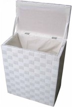 Natural Cord Lined Hamper Home Laundry Storage Organizer Standard Size W... - $79.63