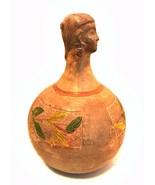 Antique Figural Pottery Vase Jar Ladies Head Round Base Estate Find 10 i... - $564.29