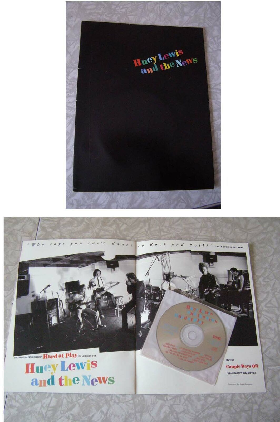 Huey Lewis & The News Hard At Play CD Promo EMI 1991 image 1