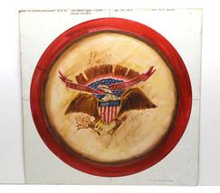 1982 Americana Design Art Work Bachman Food Co.100th Anniv. Eagle Drum D... - $42.06
