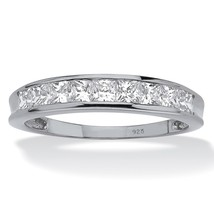 PalmBeach Jewelry .81 TCW CZ Ring in Platinum over .925 Sterling Silver - $79.99