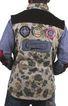 Crooks & Castles Mens Tan Duck Camo Firing Squad Outerwear Cotton Vest NWT image 2