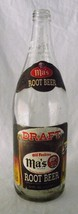 Draft Ma's Root Beer Clear Glass Beverage Vtg Pop 32 Label PA Old Fashio... - $24.70