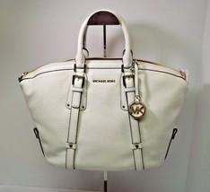 NWT MICHAEL Michael Kors White Bedford Leather Belted Medium Satchel Bag New - $248.00