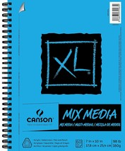 Canson XL Series Mix Media Paper Pad, Heavyweight, Fine Texture, Heavy S... - $25.24