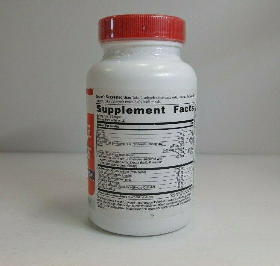 Dr. Sinatra Omega Q Plus Resveratrol 60 Softgels SEALED- EXP 04/21