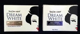 2 Kojie San Dream White Anti Aging Cream with Sunscreen and Overnight Cream - $13.76