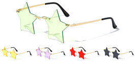 SLIM RIMLESS STAR SHAPED LENSES HIPPIE SUNGLASSES HIP HOP LUXURY FUTURIS... - $10.40+