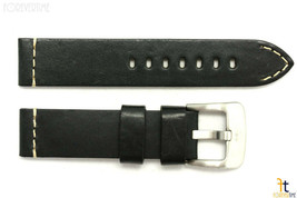 20mm Black Smooth Leather Watch Band Strap Fits Luminox Anti-Allergic He... - $34.15