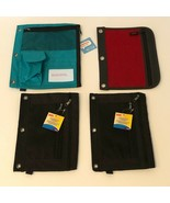 Pencil Bag Pouch 3 Ring Binder Zippered Pencil Pouches Cosmetic Case Lot... - $17.99