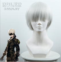 NieR:Automata 9S YoRHa No. 9 Type S Scanner Cosplay Costume Wig Silver W... - $20.95