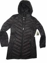 London Fog Black Packable down hooded winter Coat size Medium M - $100.94