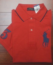 Polo Ralph Lauren Homme Grand Poney Cible Rouge Polo Coton Gros & Grand ... - $44.62