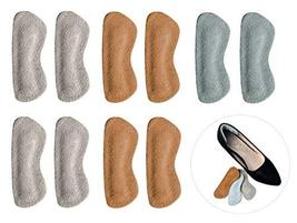 Heel Grips for Narrow Heels or Loose Shoes, Premium Suede Leather Cushion Insert image 2