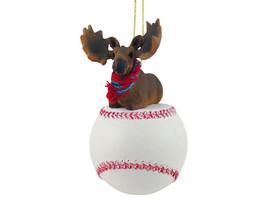 Moose Bull Baseball Ornament - $17.99