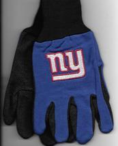 New York Giants team Sport Utility Gloves blue black garden NFL Football... - $17.77