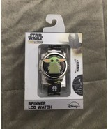 Watch - Baby Yoda - Star Wars Mandalorian SPINS Spinner LCD Unique Rubbe... - $32.99