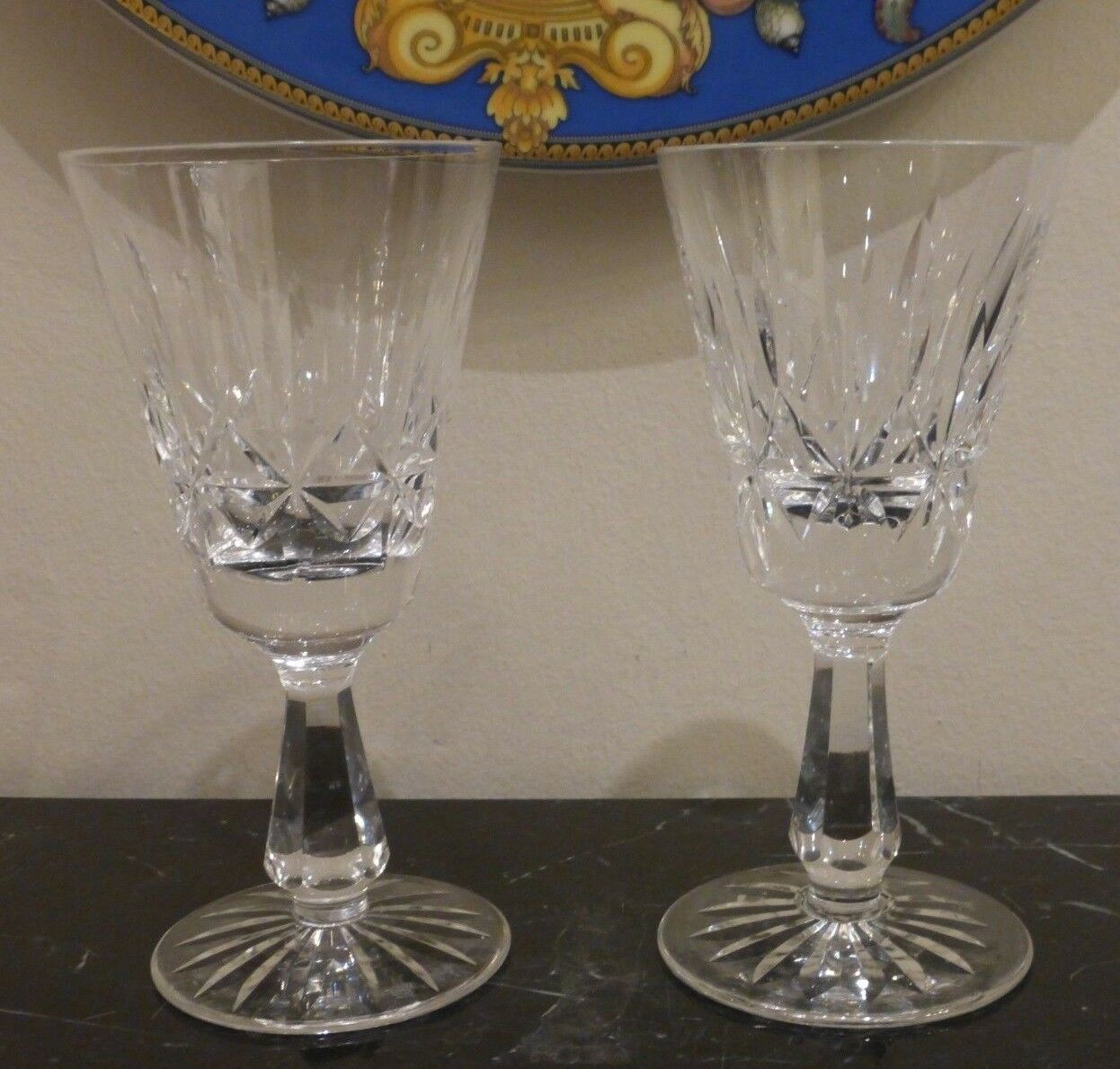 Primary image for Waterford Crystal Rosslare Pattern 1 White Wine and 1 Port Wine Stemware