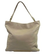 Jimmy Choo Charlie Tote Shopper Bag Winter White Cream Leather Handbag R... - $378.80