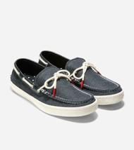 Cole Haan Men Pinch Weekender Camp Moc Boat Shoe Loafers Black Canvas - $54.76