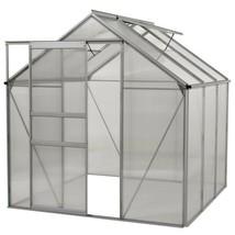 Aluminium Greenhouse - Walk-In 6' X 6'- With Sliding Door - Free Shipping - $514.79