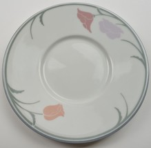 Dansk China Belles Fleurs Gray Flat Cup Saucer Vintage Tableware Dinnerware Mug - $4.99