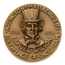 1766-1854 Arlington Massachusetts Birthplace Uncle Sam Bronze Medal - $29.64