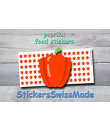 paprika   planner stickers   food icon   for planner and bullet journal - $3.00+